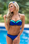 Caribbean Belle Bikini - Royal Blue & Mint