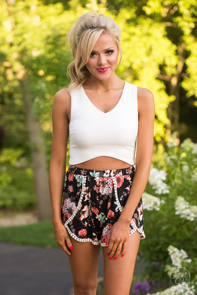 Bring on the Heat Crop Top - White