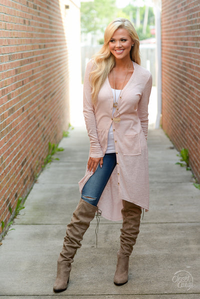 Follow My Lead Over-the-Knee Boots - taupe knee high suede boots, Closet Candy Boutique 3