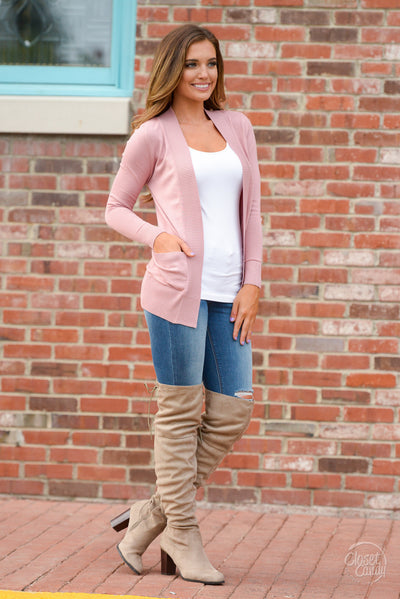 Follow My Lead Over-the-Knee Boots - taupe knee high suede boots, Closet Candy Boutique 7