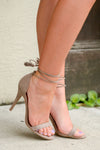 Love Sick Wrap Heels - Taupe