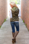 Born & Raised Camo Hooded Vest - camo print zip front vest, Closet Candy Boutique 3