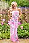 Candy Shop Maxi Dress - Tie Dye Pink