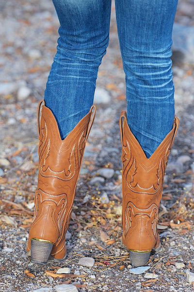 Cowboy Take Me Away Boots - Tan