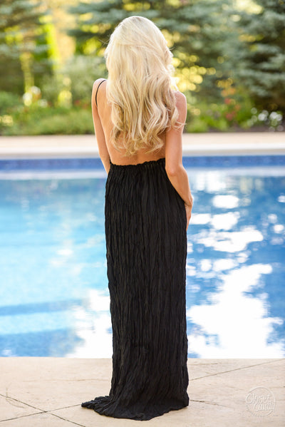 All Eyes On Me Maxi Dress - Black