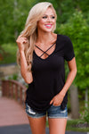 Closet Candy Boutique - cute trendy criss cross tee, short sleeve top, spring and summer style