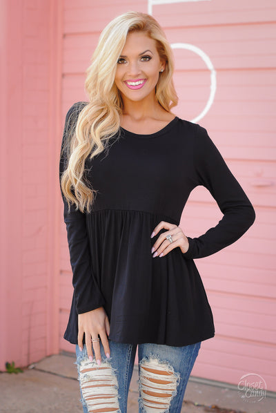 Couldn't Ask For More Surplice Top - Black