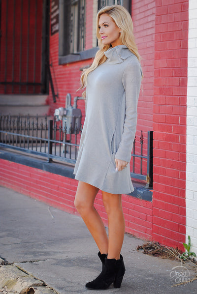 Nothing Better Sweater Dress - Grey