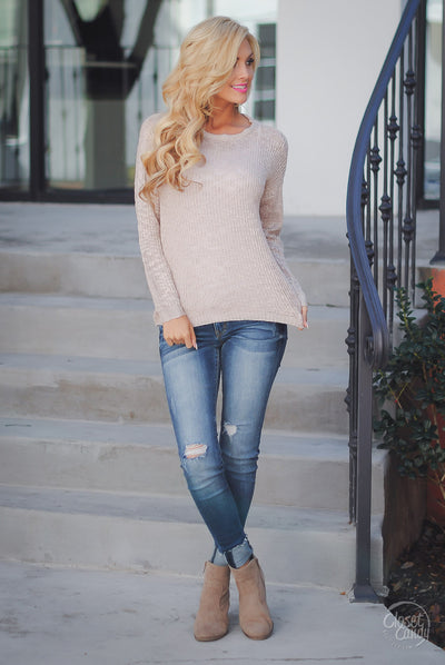 Moment In Time Sweater - Taupe