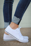 Closet Candy Boutique - white canvas sneakers for spring and summer