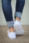 Closet Candy Boutique - white canvas sneakers for spring and summer, back