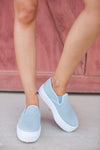 Fourth of July Slip On Shoes - Blue