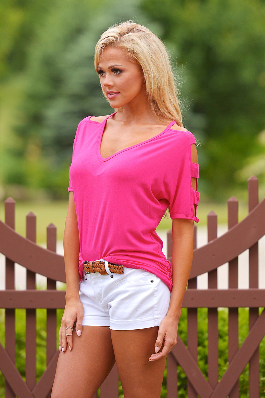 Go With The Wind Top - Hot Pink