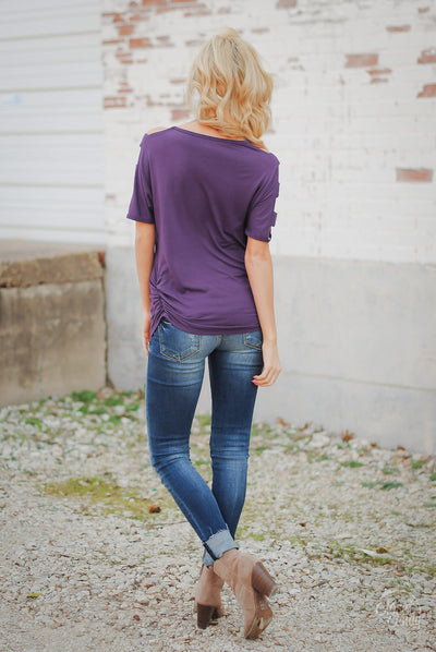 Go With The Wind Top - Plum