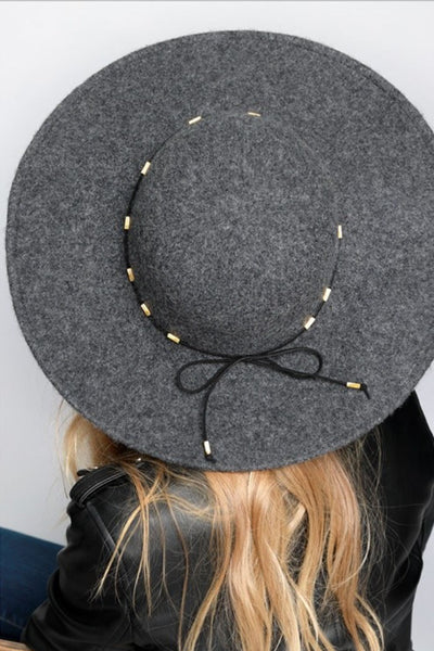 Somewhere With You Hat - Grey wool brim hat, Closet Candy Boutique