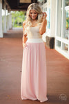 The Best Part Maxi Skirt - Blush