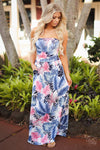 On Vacay Maxi Dress palm long strapless vacation dress women clothing trendy fashion closet candy boutique