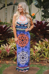 Sun Kissed Summer Maxi Dress - Blue