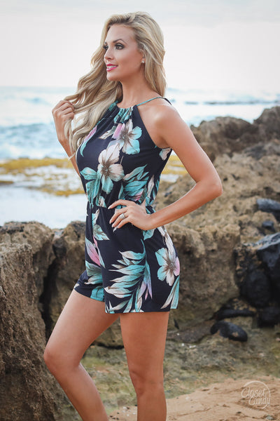 Sands of Time Romper - Navy