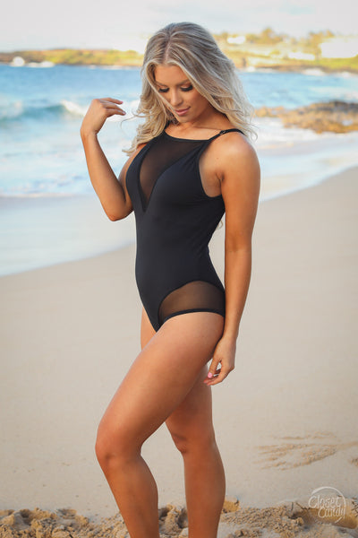 Line in the Sand Swimsuit - Black