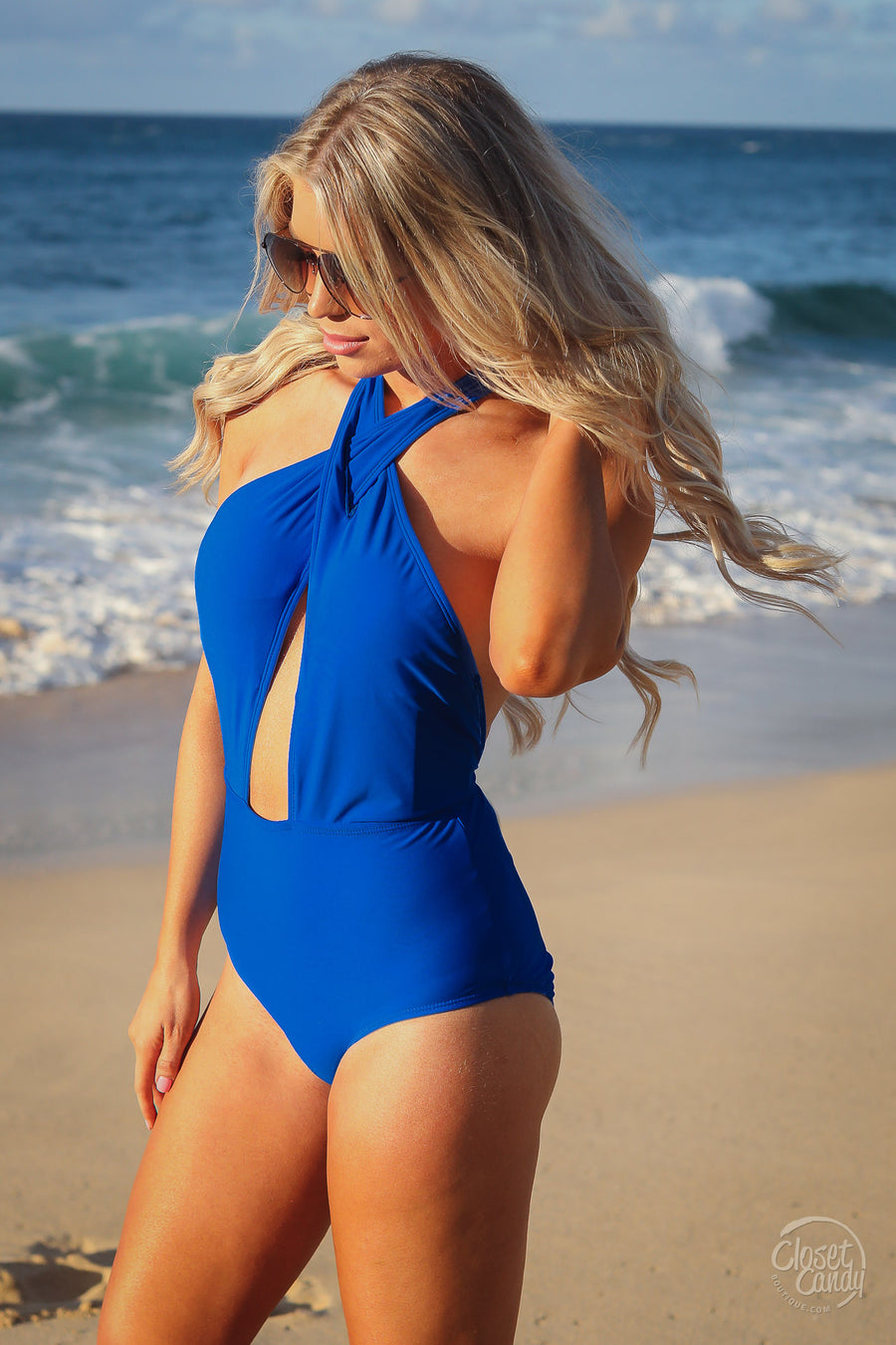Ride the Wave Swimsuit - Royal Blue