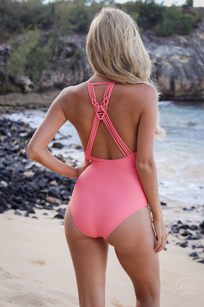 We Go Back Swimsuit - Coral