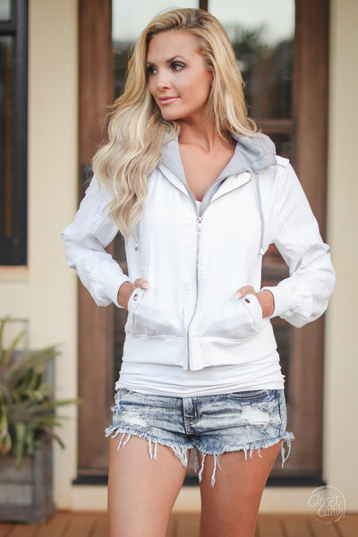 Bonfire Nights Lightweight Jacket - White