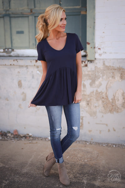 Closet Candy Boutique - cute flowy short sleeve top, spring and summer style