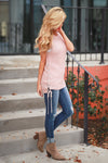 Day Trip Sleeveless Sweater - Blush