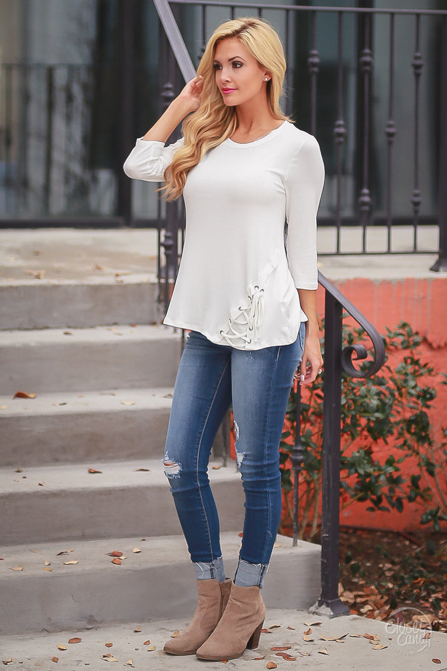 My Good Side Top - Ivory