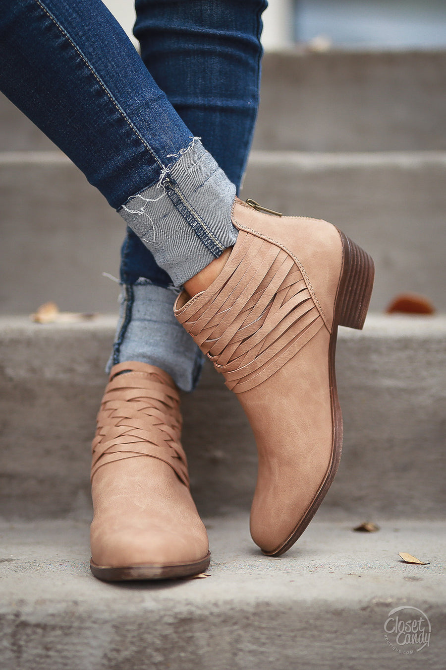 Gets Me Every Time Booties - Taupe