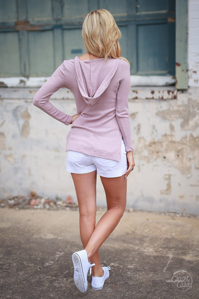 Day Off Hooded Top - Mauve