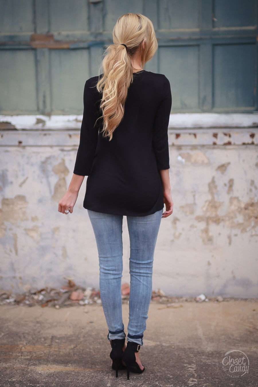 My Good Side Top - Black