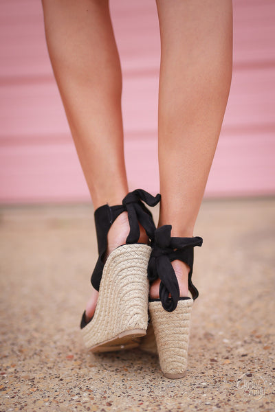 Touch of Charm Wedges - Black