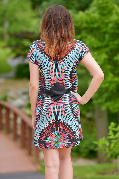 Kaleidoscope Heart Dress - Black