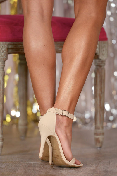 Love Sick Heels - nude strappy ankle strap heels, Closet Candy Boutique 7