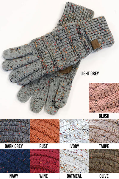 Melange Touch Screen Gloves - color flecked touchscreen gloves, Closet Candy Boutique 2