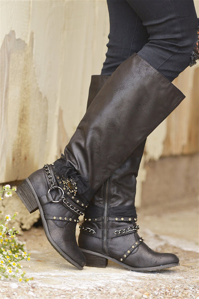 Not To Be Forgotten Boots - Black
