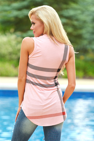 Office Hours Sleeveless Top - Pink