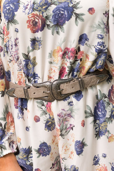 Down Home Roots Double Buckle Belt