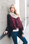 Place In My Heart Ombre Scarf - Burgundy ombre fringe scarf, Closet Candy Boutique
