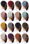Messy Bun Melange Beanies - knit speckled beanies, Closet Candy Boutique