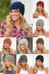Slouchy Melange Knit Beanies - women's color fleck knit beanie hats, Closet Candy Boutique 1