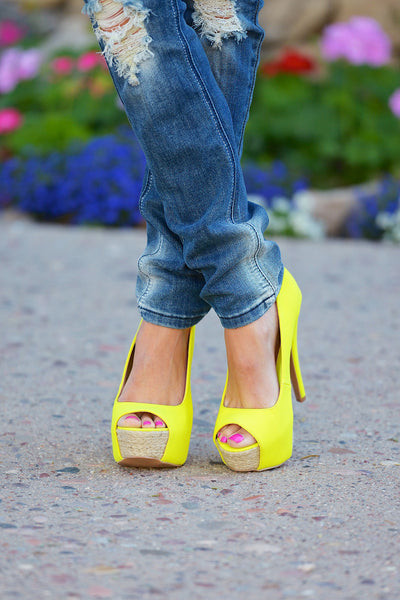 Step Into Spring Heels - Neon