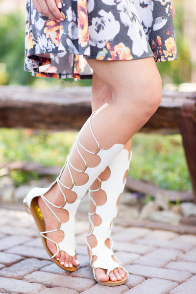Strength Of Character Gladiator Sandals - White
