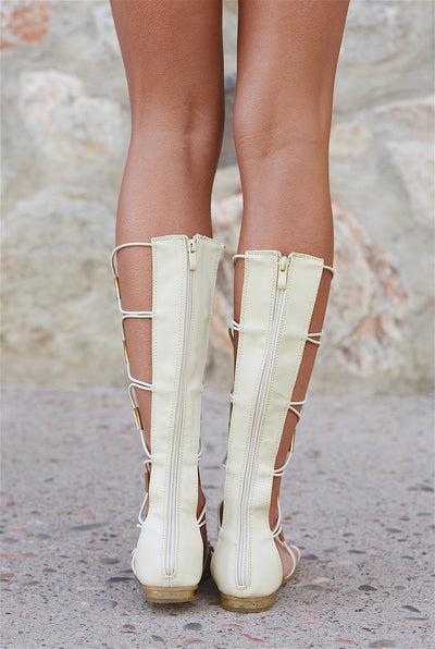 Strength Of Character Gladiator Sandals - Beige