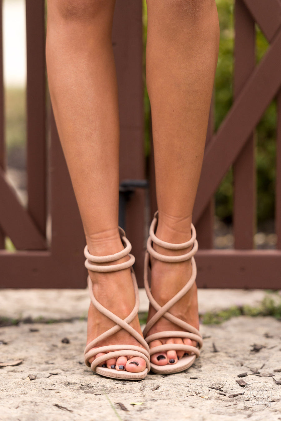 A New York Minute Strappy Heel - Taupe