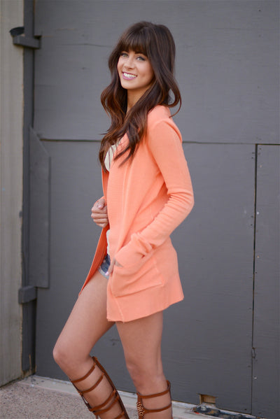 The Nearness of You Cardigan - Coral