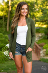 The Nearness of You Cardigan - cute olive cardigan, fall style, front, Closet Candy Boutique 4