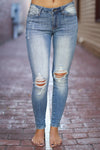 Kan Can The Way You Move - medium wash distressed skinny jeans, Closet Candy Boutique 1